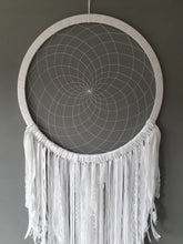 Load image into Gallery viewer, Large white dreamcatcher
