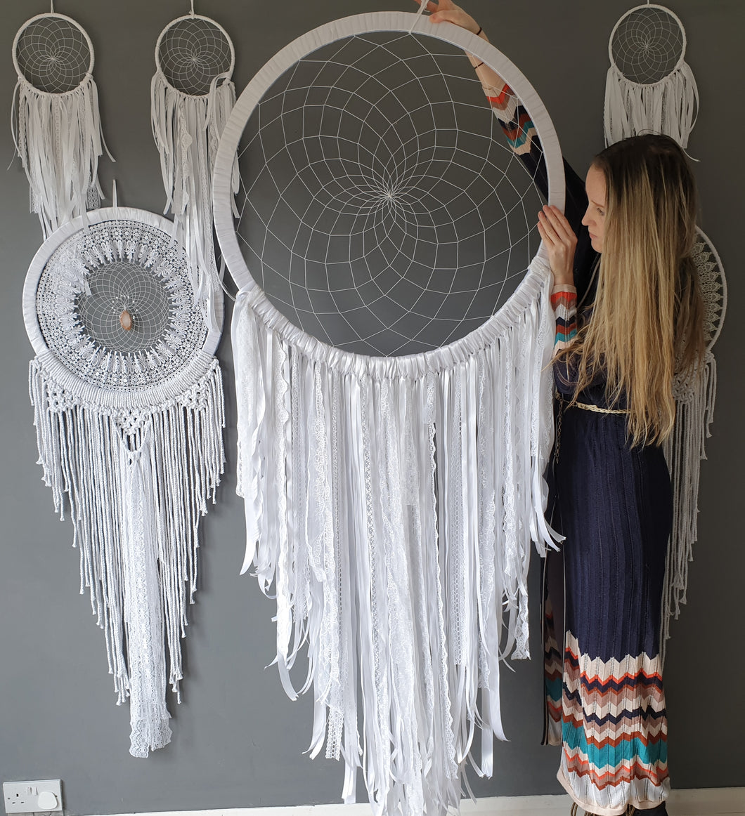 Large white dreamcatcher