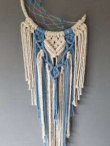 Small blue moon dreamcatcher