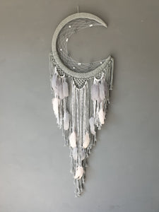 Maia Moon Catcher with added feathers