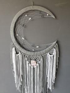 Maia Moon Catcher with Rose Quartz