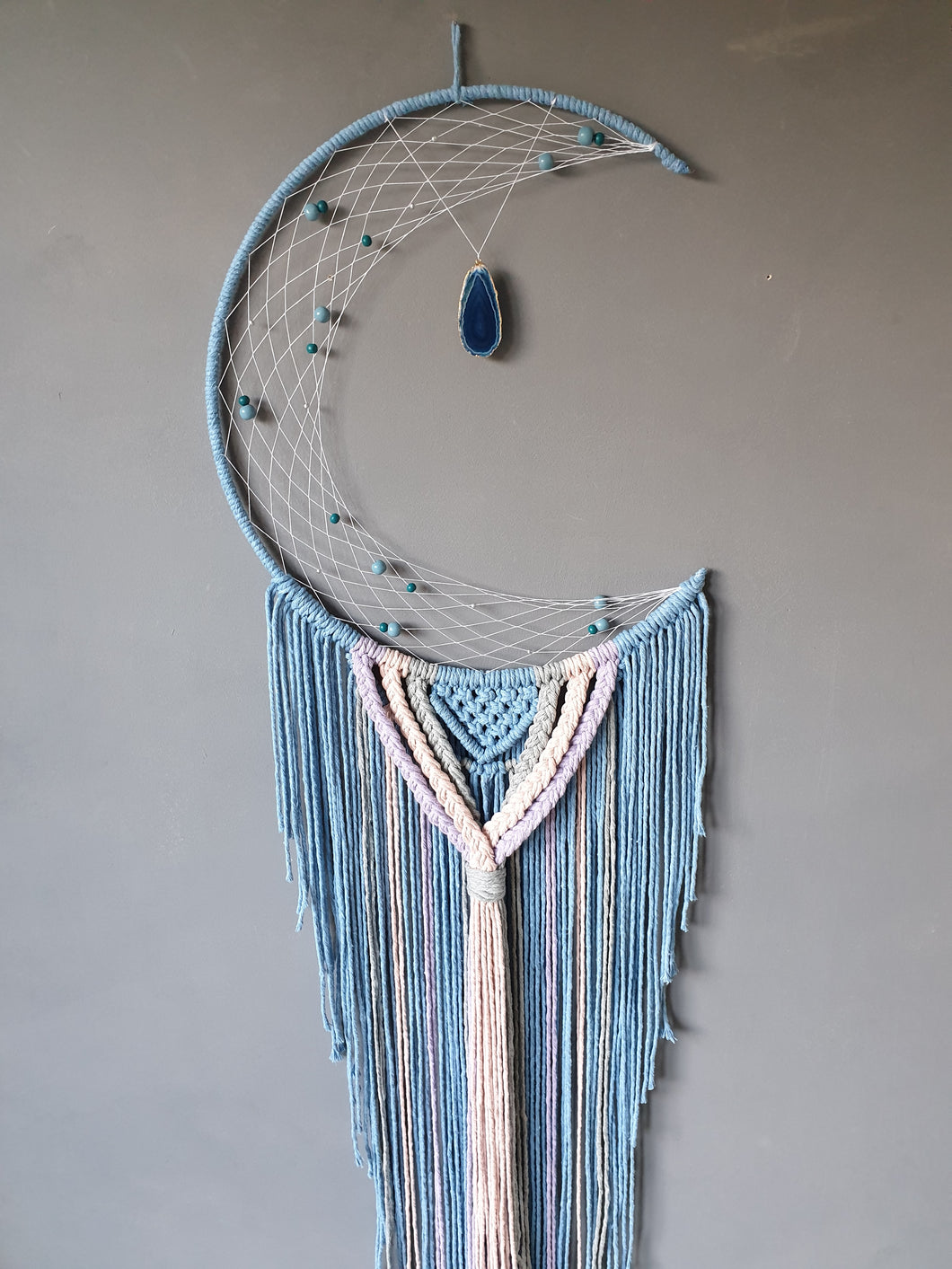 Baby blue moon dreamcatcher