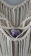 Load image into Gallery viewer, Macrame wall Hanging. With amethyst