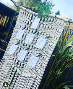 Macrame table plan, boho table plan