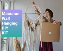 Load image into Gallery viewer, DIY Macrame wall hanging Tutorial