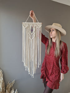 Macrame crystal DIY kit with free youtube tutorial