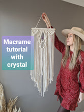 Load image into Gallery viewer, Macrame crystal DIY kit with free youtube tutorial