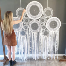 Load image into Gallery viewer, Huge lace dreamcatcher backdrop.