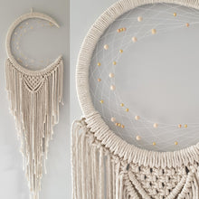 Load image into Gallery viewer, Natural Boho moon dreamcatcher