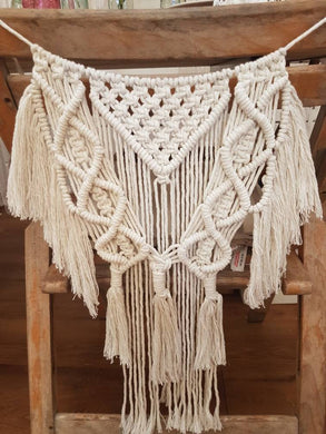 Macrame chair back, wedding chair back