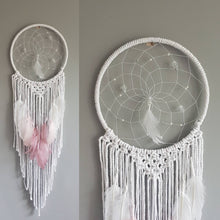 Load image into Gallery viewer, Pink feathers, pink dreamcatcher
