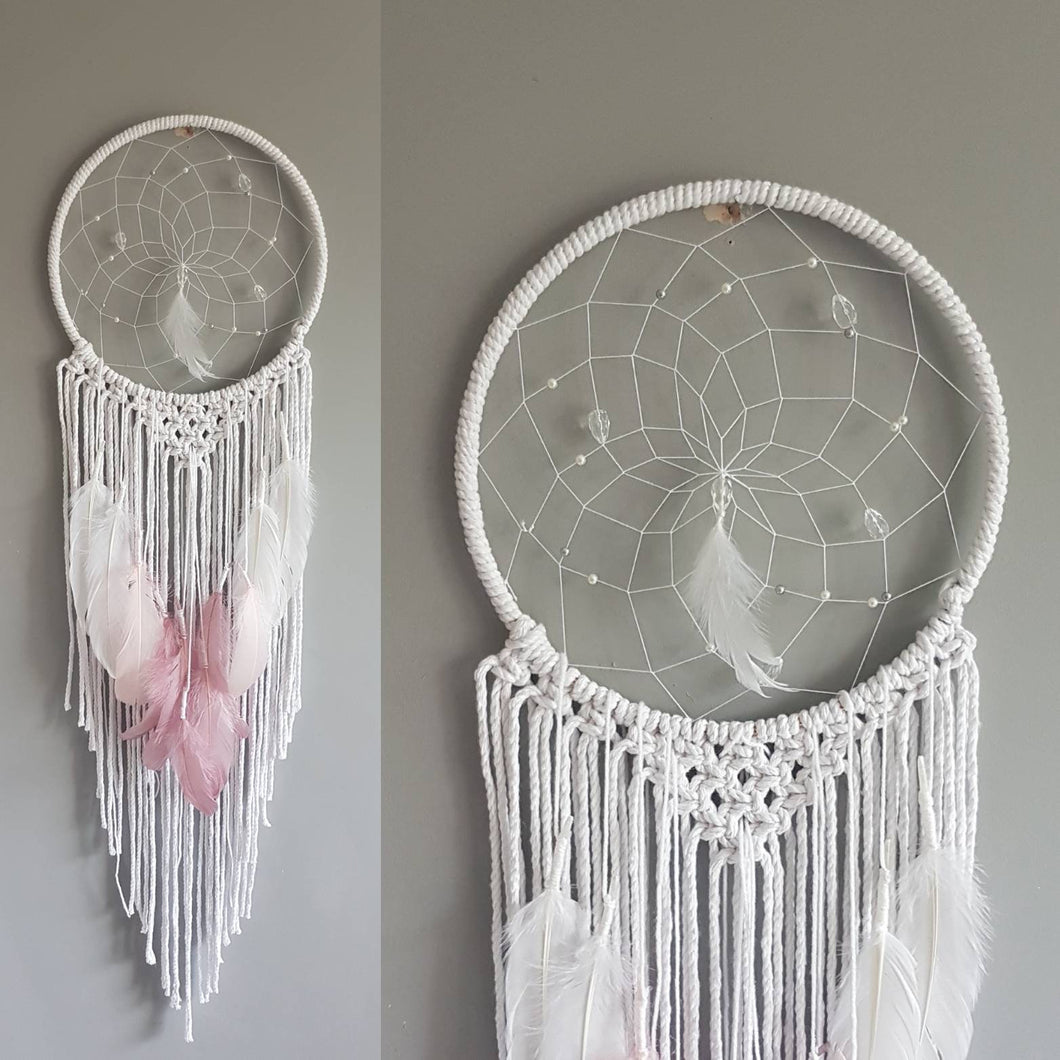 Pink feathers, pink dreamcatcher