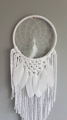 White feathers, white dreamcatcher