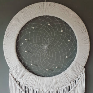 Large white macrame dreamcatcher