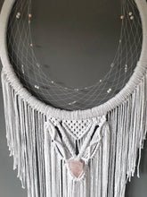 Load image into Gallery viewer, Rose quartz horseshoe dreamcatcher, Epona moon