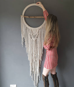 Huge dreamcatcher with driftwood