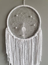 Load image into Gallery viewer, White boho dreamcatcher