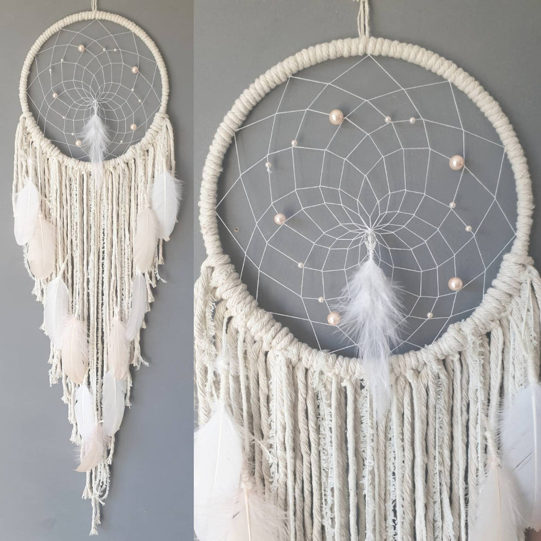 Blush and ecru Dreamcatcher