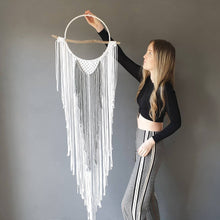 Load image into Gallery viewer, Boho macrame dreamcatcher.