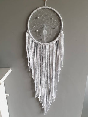 White boho dreamcatcher