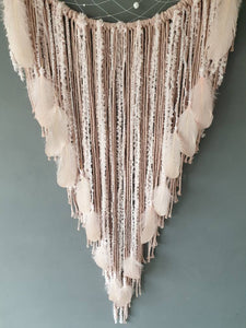 Pink feathered dreamcatcher