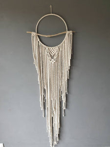 Boho drift wood dreamcatcher with agate slices