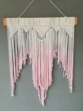 Load image into Gallery viewer, Pink dip dye macrame wall hanging