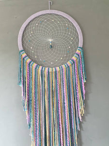 Large rainbow dreamcatcher.