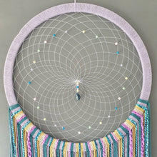 Load image into Gallery viewer, Large rainbow dreamcatcher.