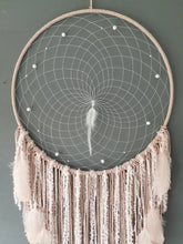 Load image into Gallery viewer, Pink feathered dreamcatcher