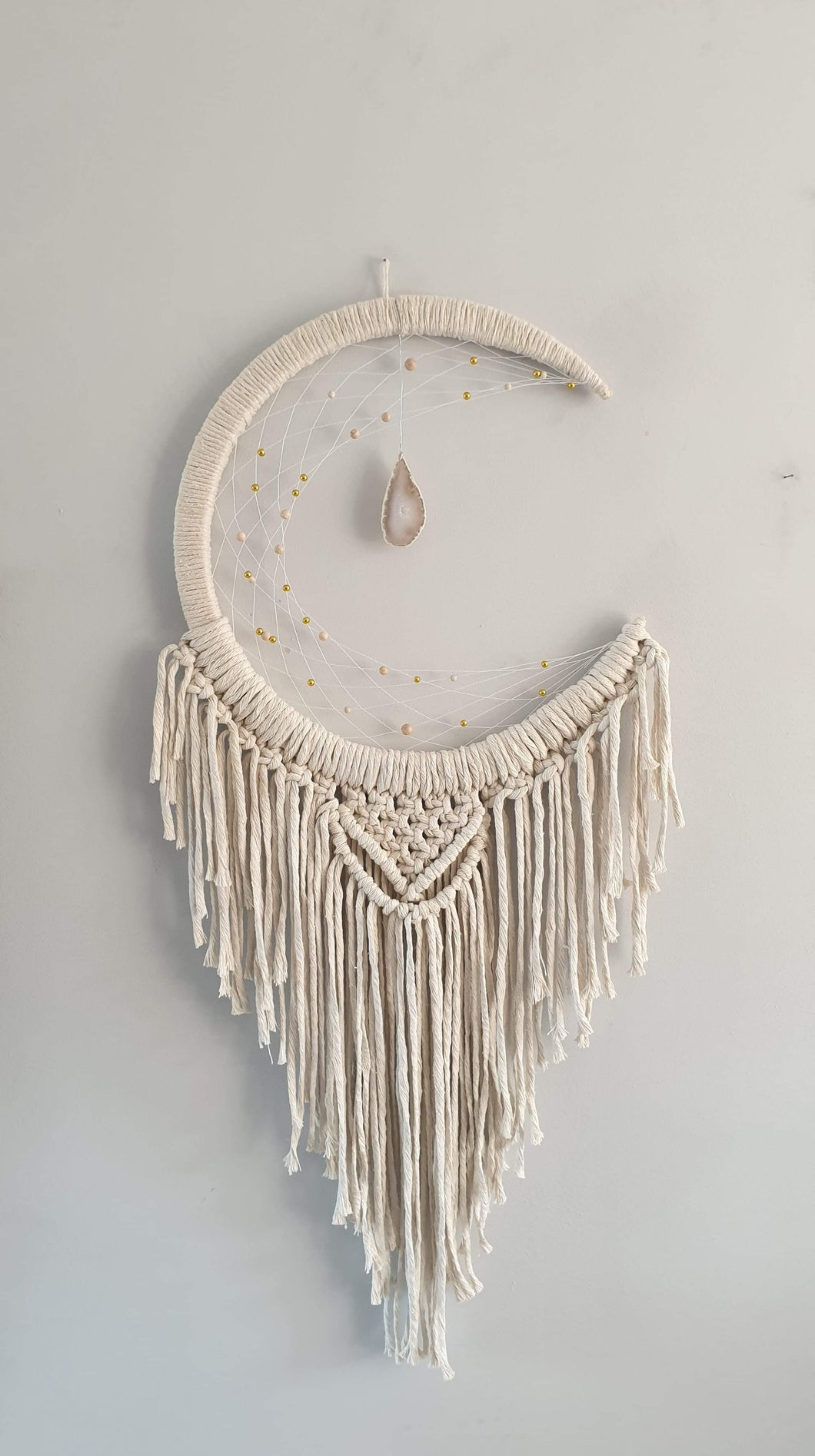 Moon catcher with stunning crystal and beads