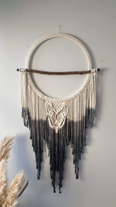 Tie dye driftwood dream catcher
