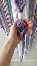 Load image into Gallery viewer, Unicorn coloured moon catcher with Amethyst  crystal
