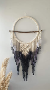 Unique hand tie dyed driftwood dreamcatcher