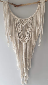 Drift wood macrame dreamcatcher