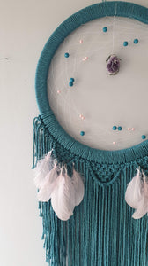 Stunning teal mooncatcher with crystal