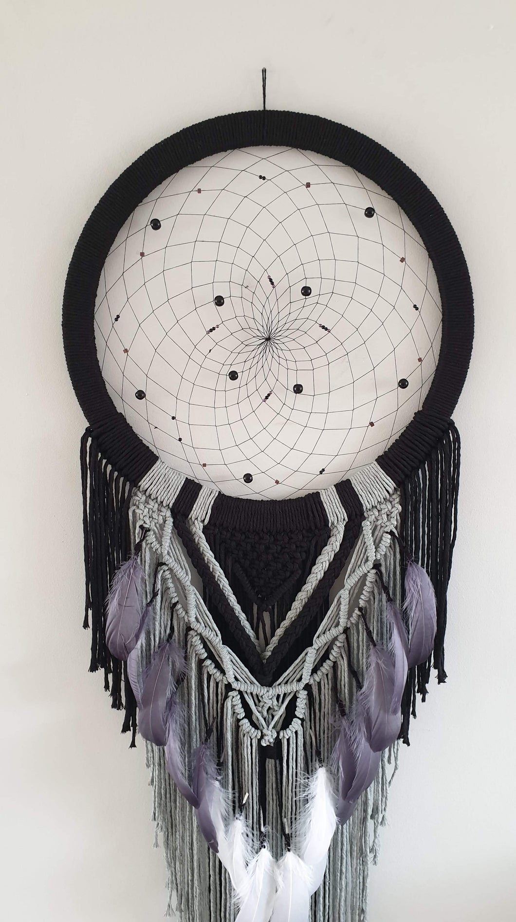 Beautifully detailed gothic dream catcher