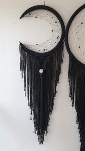 3 piece dreamcatcher with Crystal's