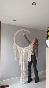 Beautiful natural string moon catcher
