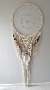 Stunning Dramcatcher in natural string with crystal