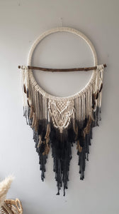 Unique driftwood and tie dye dreamcatcher