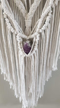 Load image into Gallery viewer, Pure white dream catcher with crystal.