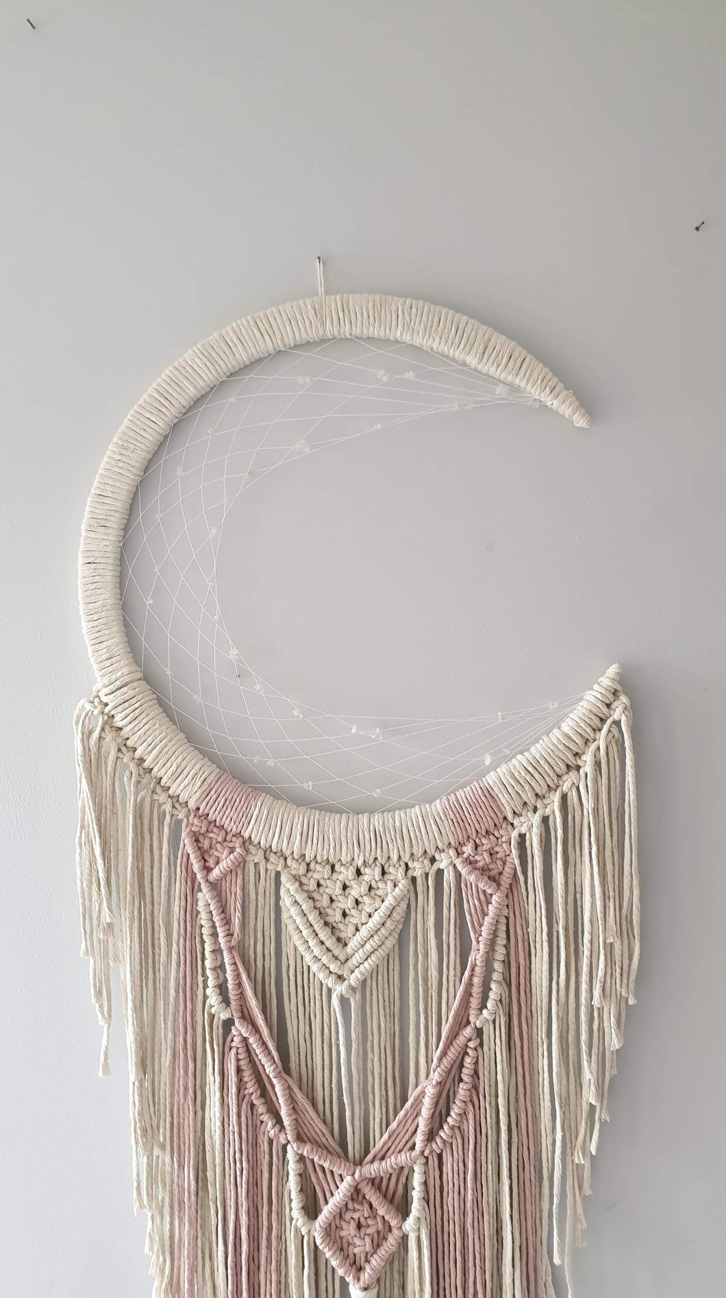 Soft pink and cream moon catcher