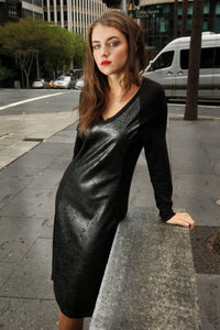 3-01169 Leatherette Dress - Ruth Tate