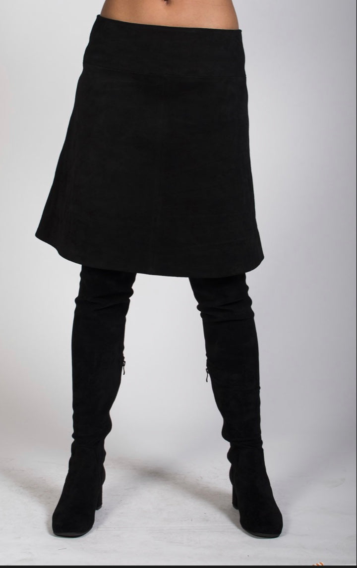 1-A line leather skirt