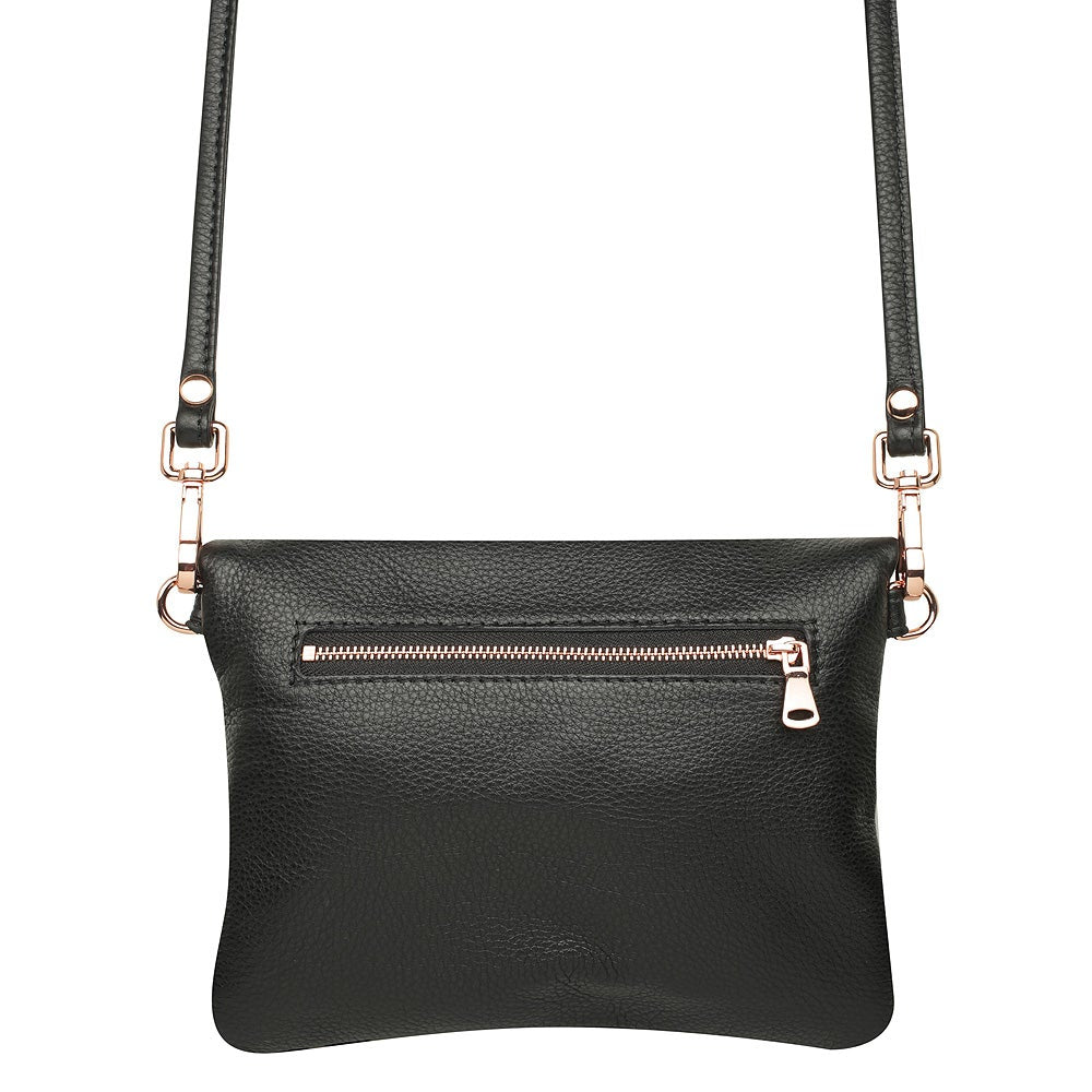 Black Two Tone Mini Weekend Clutch