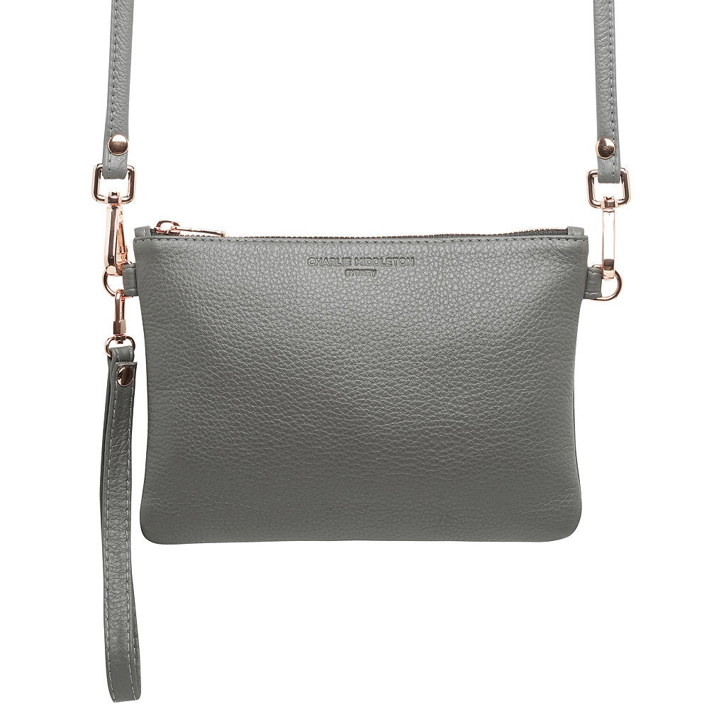 Grey Nappa Essential Clutch