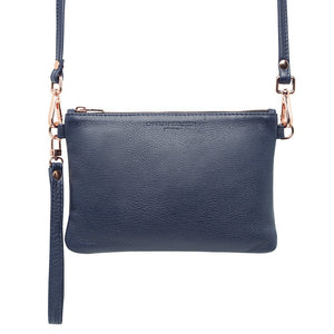 Navy Nappa Essential Clutch