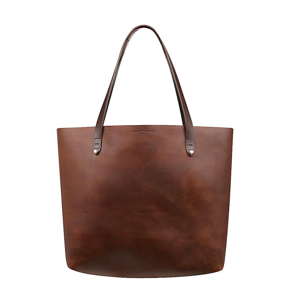 Cognac Bespoke Tote by Charlie Middleton