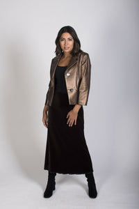 2-0388 Velvet Riding Skirt-mocha - Ruth Tate